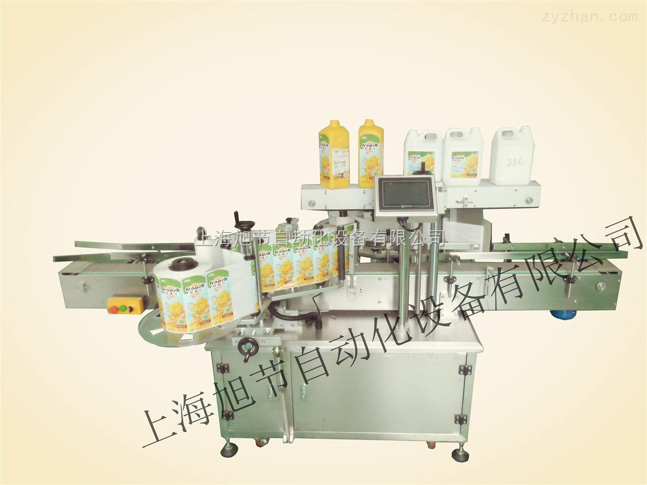果汁瓶贴标机械 方形果酱瓶双面贴标机 侧面贴标机