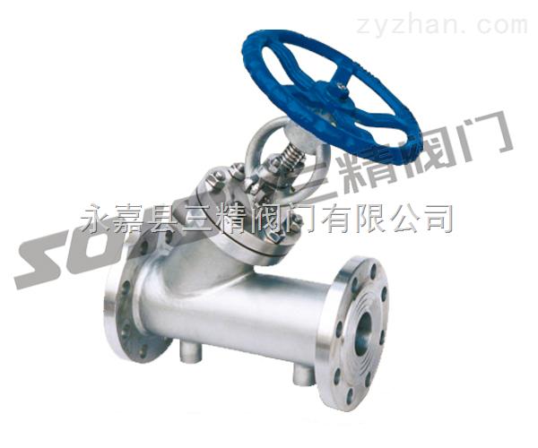 保温阀门图片系列:BJ45H/W铸钢保温截止阀,不锈钢保温截止阀