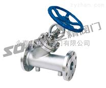 保溫閥門圖片系列:BJ45H/W鑄鋼保溫截止閥,不銹鋼保溫截止閥