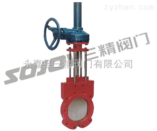 刀型闸阀图片系列:Z573X伞齿轮浆液阀
