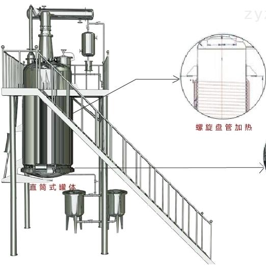 螺旋管加热提取罐应用